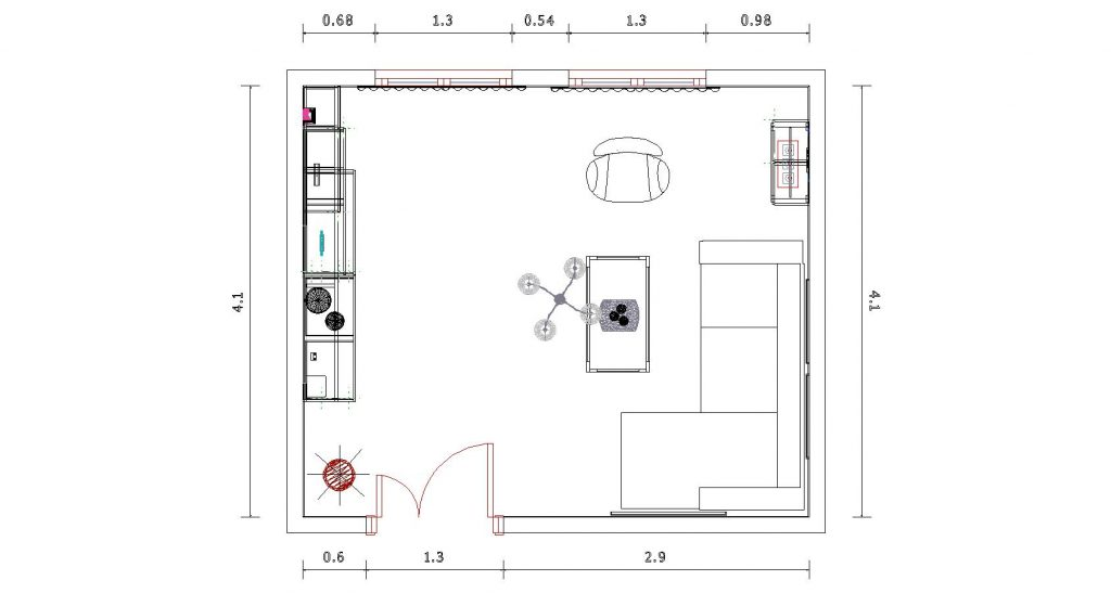 Actualización de estilo de un salón