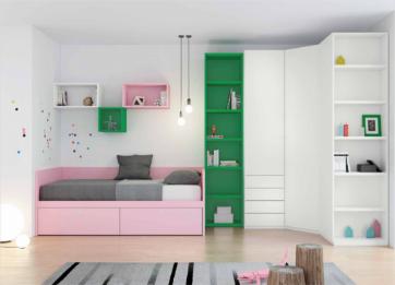 El dormitorio Juvenil, el territorio de los peques