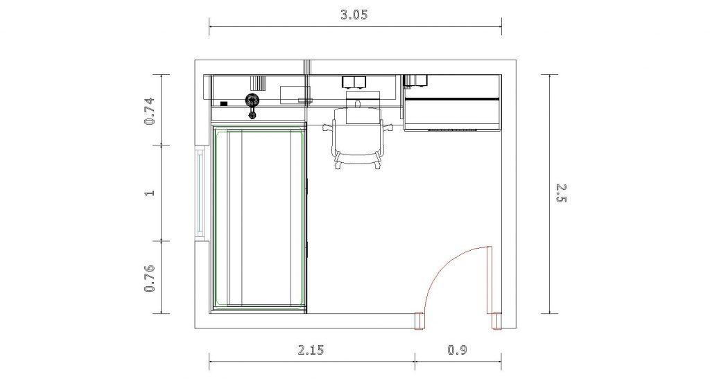 plano del proyecto en 2D